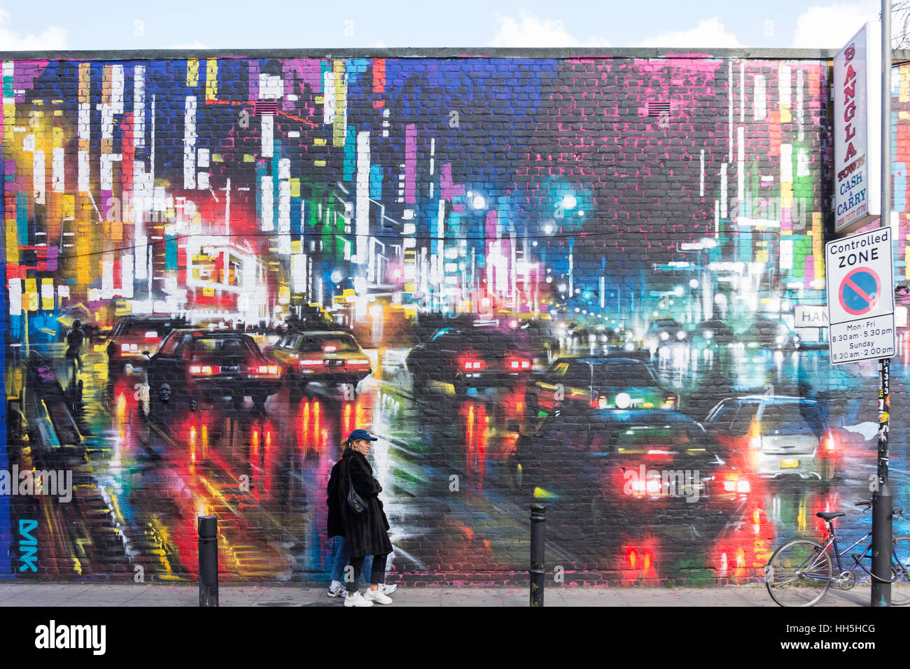 Wall mural in hanbury street spitalfields london borough of wall mural in hanbury street spitalfields london borough of tower hamlets greater london england united kingdom amipublicfo Choice Image