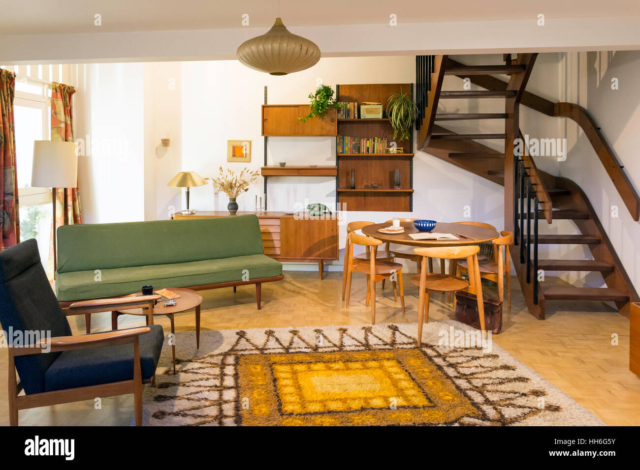 A 1965 Living Room In The Geffrye Museum Shoreditch London Borough Of Hackney England United Kingdom