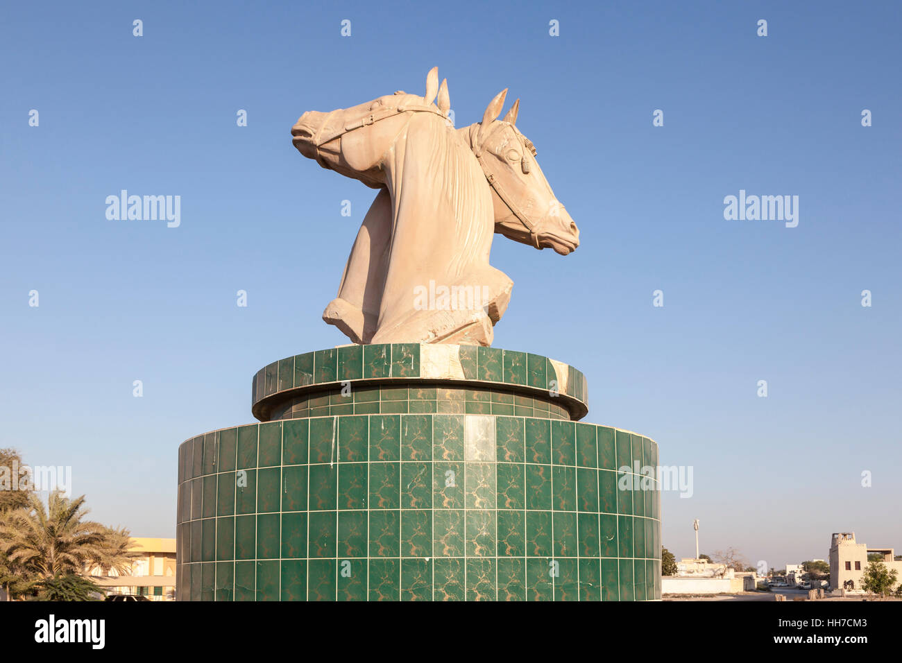 Fish aquarium in umm al quwain - Horses Statue In A Roundabout In Umm Al Quwain Uae Stock Image