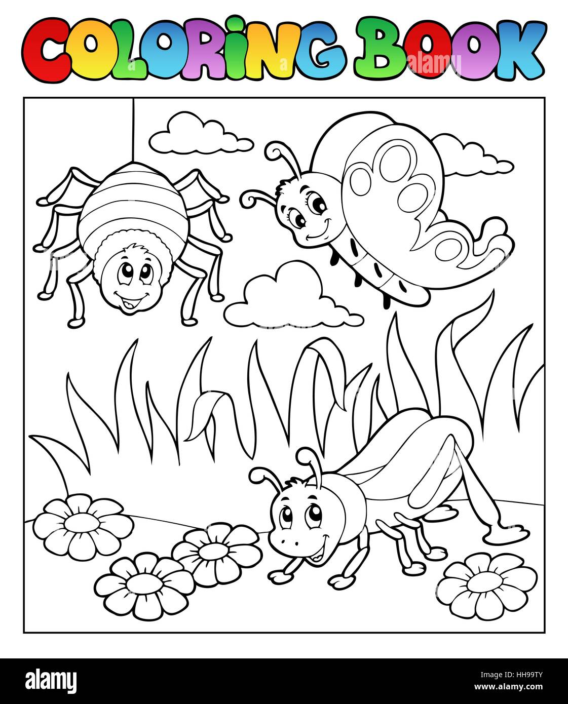 colour spider paint bug painted bugs colouring book laugh