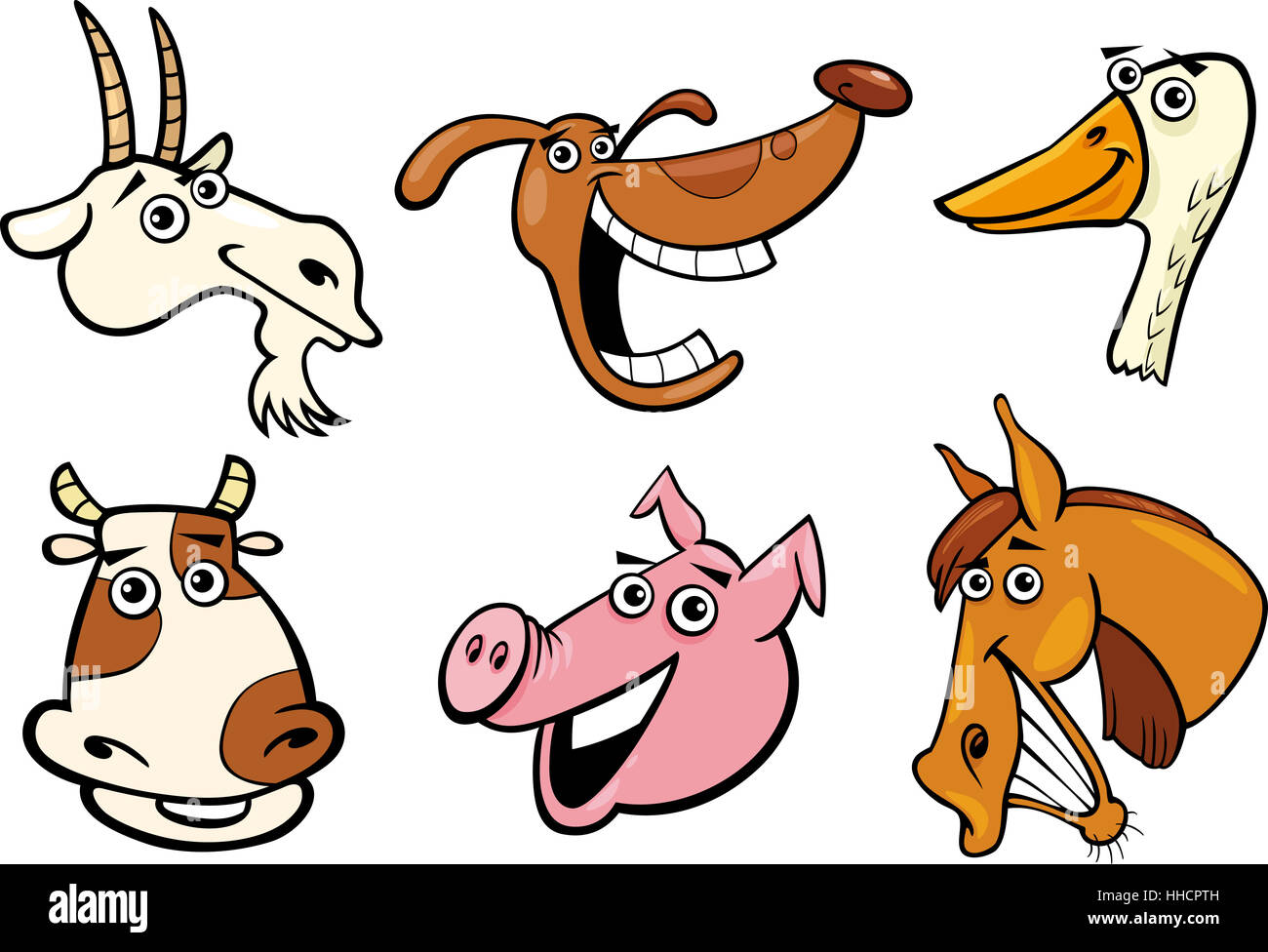 horse, goat, dog, cow, farm, goose, cartoon, pig, laugh ... - photo#50