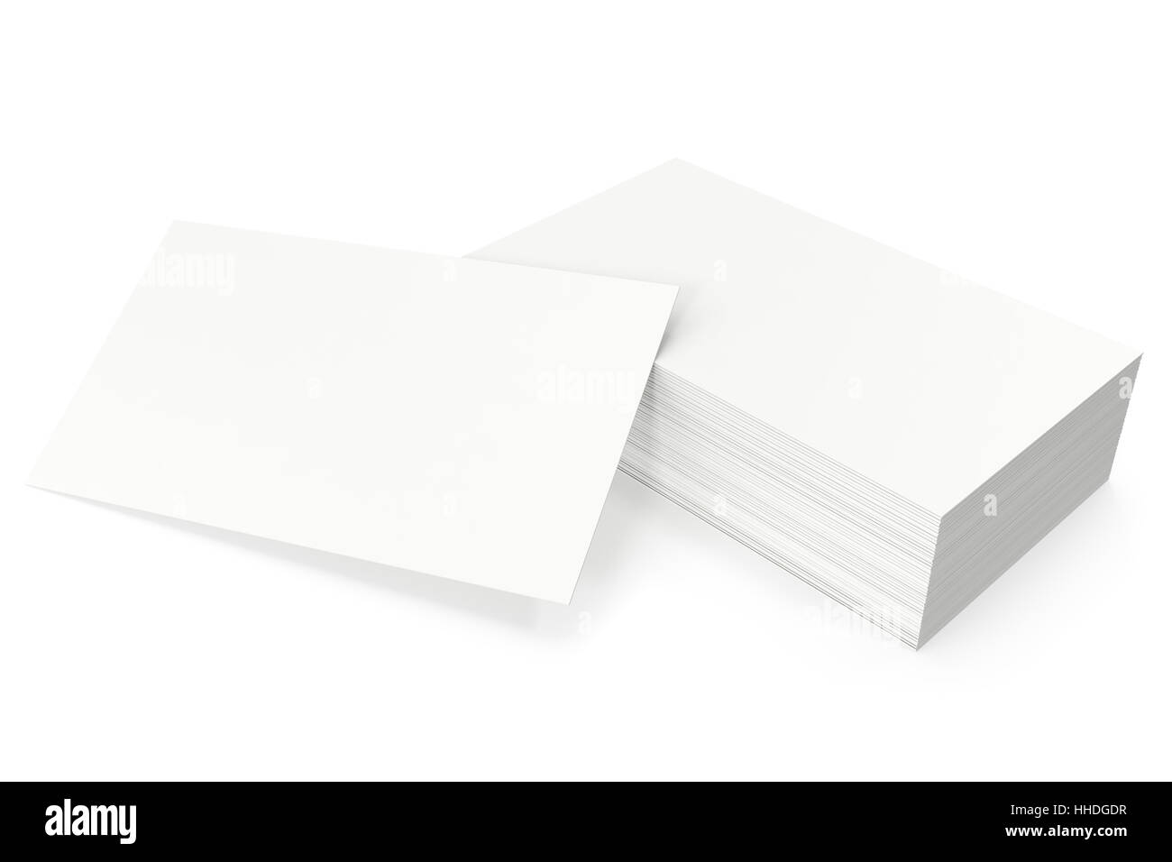 Business cards blank mockup, template, on white background, 3d Stock ...