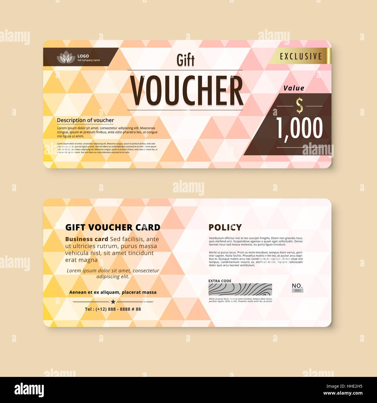 Luxury gift voucher template. promotion card, Coupon design ...