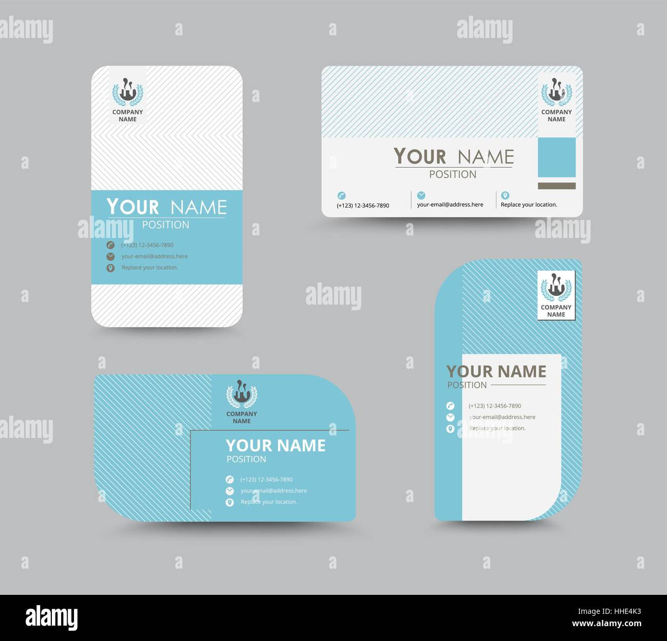 Business greeting card template design introduce card include business greeting card template design introduce card include sample text position vector illustration design kristyandbryce Image collections