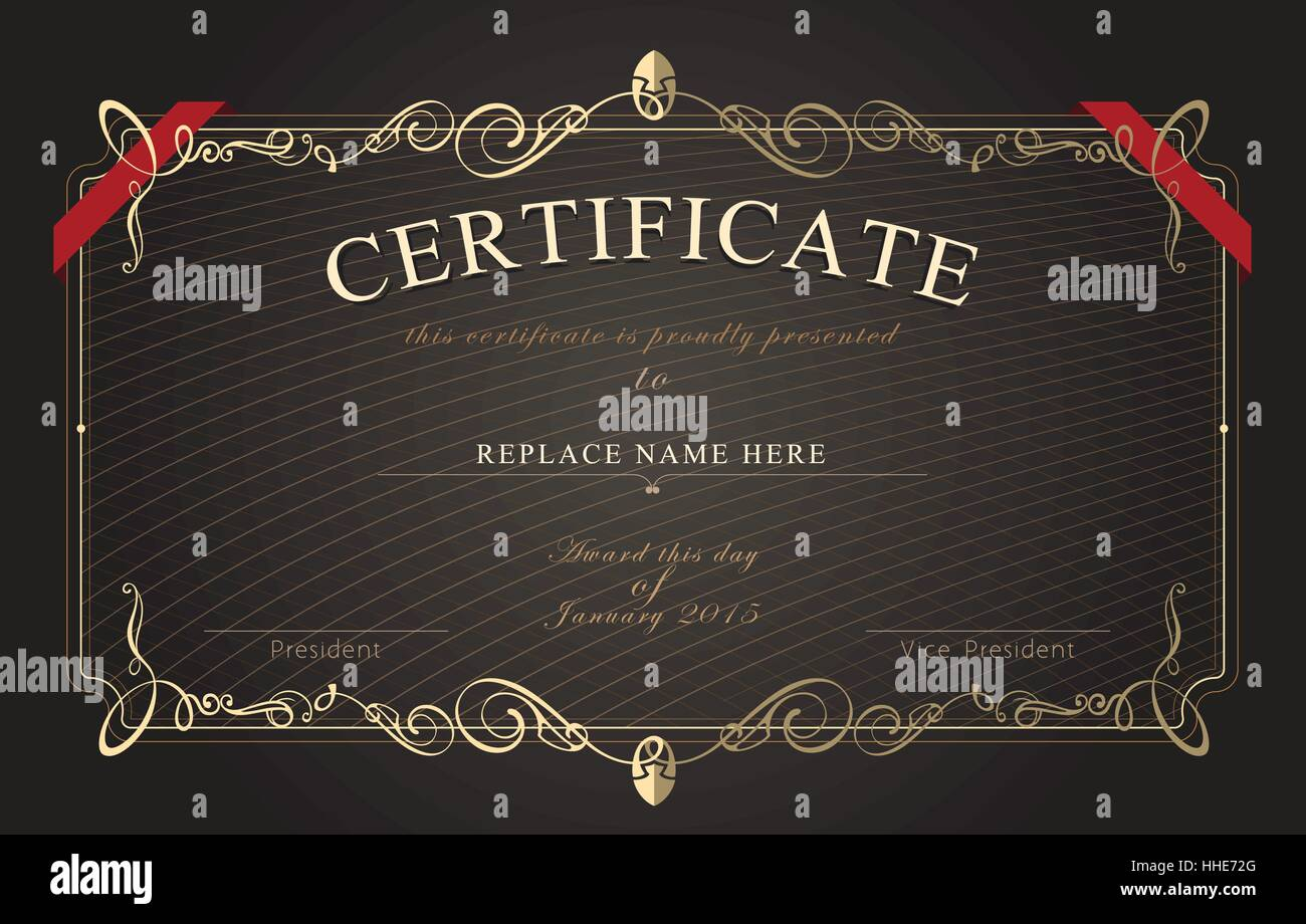 Certificate border certificate template vector illustration certificate border certificate template vector illustration yadclub Images