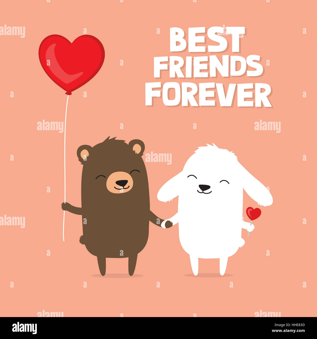 valentine u0027s day card with cute cartoon bear and bunny rabbit