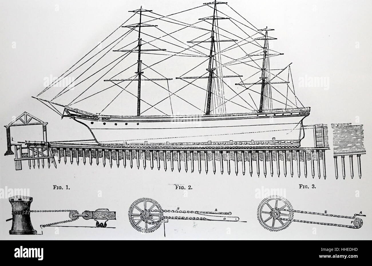 Diagram of a special dry dock for hauling up a ship for repairs diagram of a special dry dock for hauling up a ship for repairs designed by thomas morton of leith dated 19th century pooptronica Images