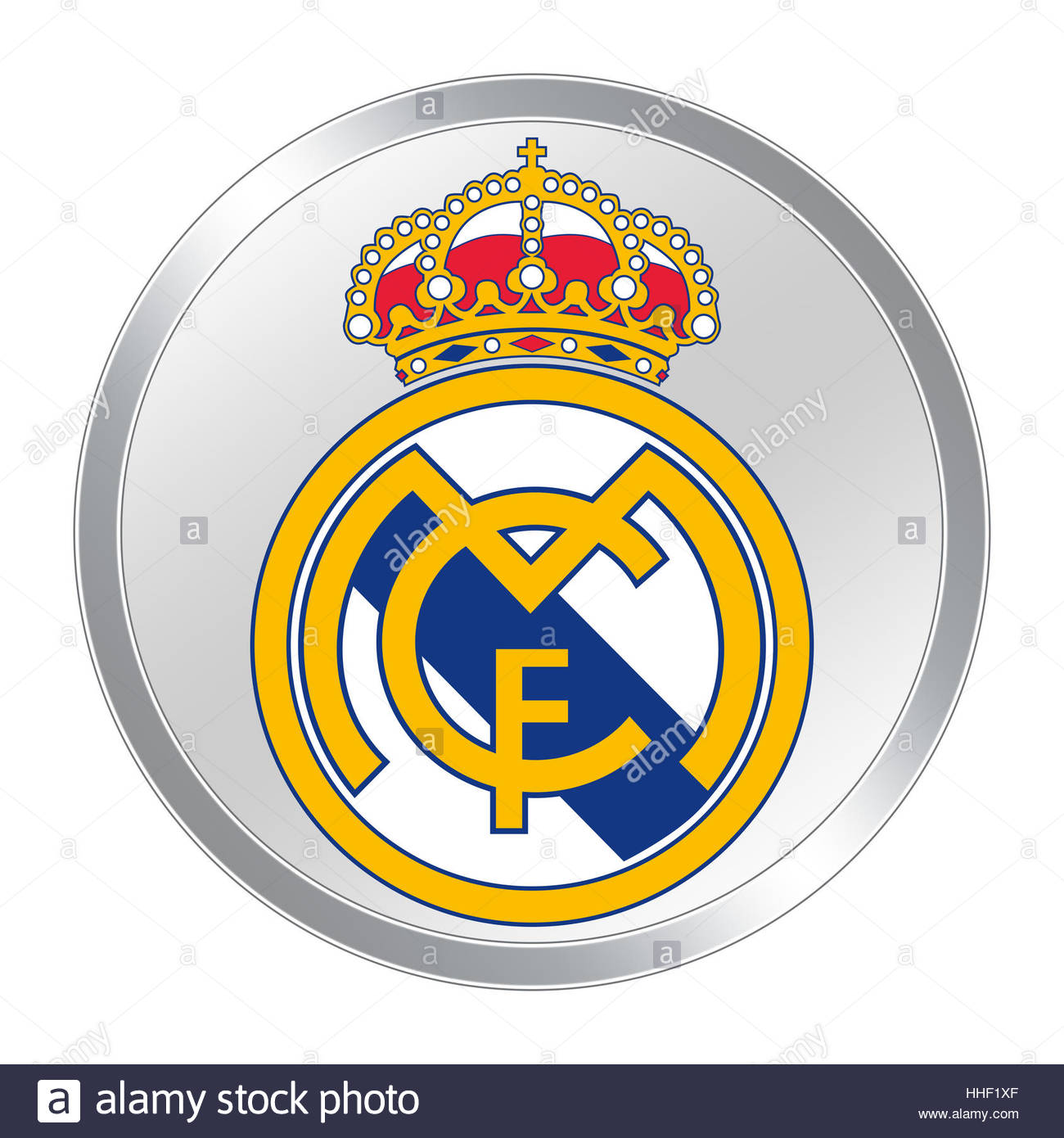 Real madrid logo icon button stock photo royalty free image real madrid logo icon button voltagebd Images