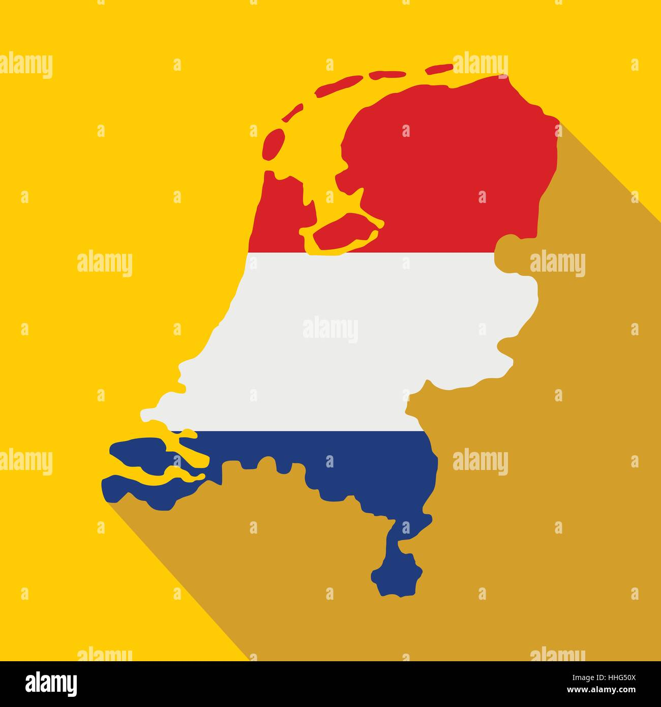 map of netherlands with dutch flag icon stock vector art