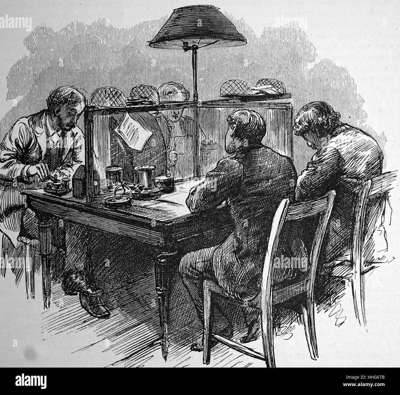 Telegraph clerks at the general post office st martins le grand london