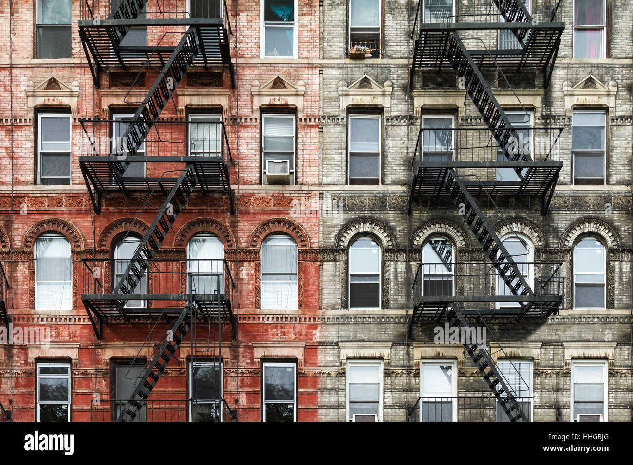 Old Brick Apartment Buildings In The East Village Of Manhattan New York Cityold Brick Apartment Buildings