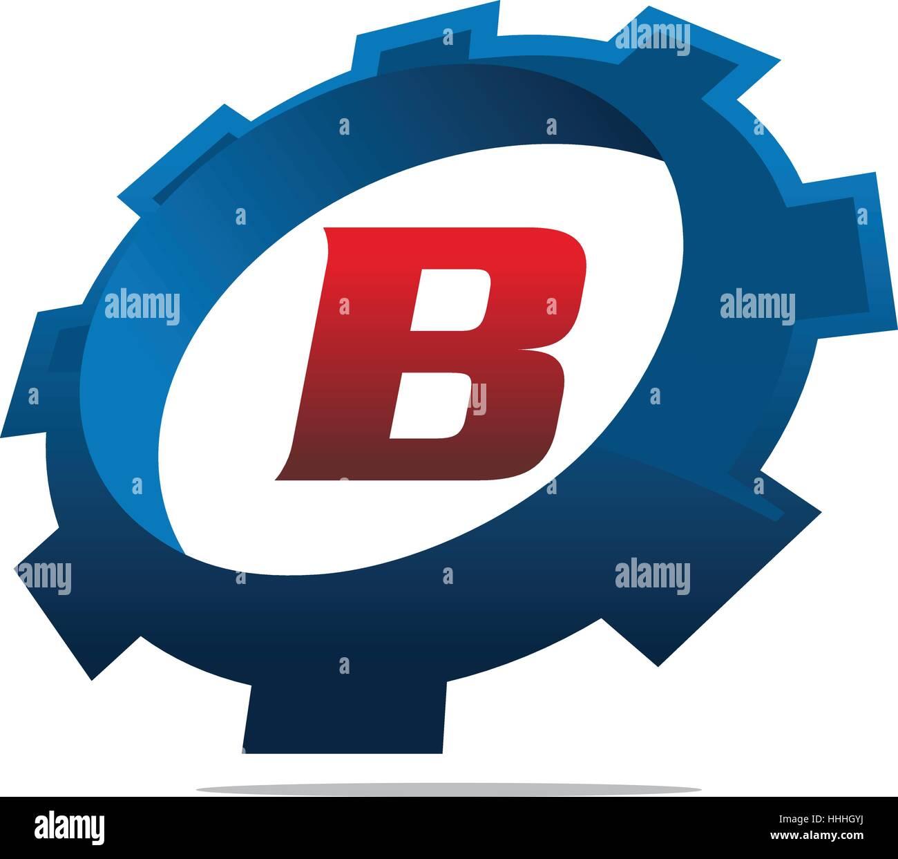 Tj initial luxury ornament monogram logo stock vector - Gear Logo Letter B Stock Image