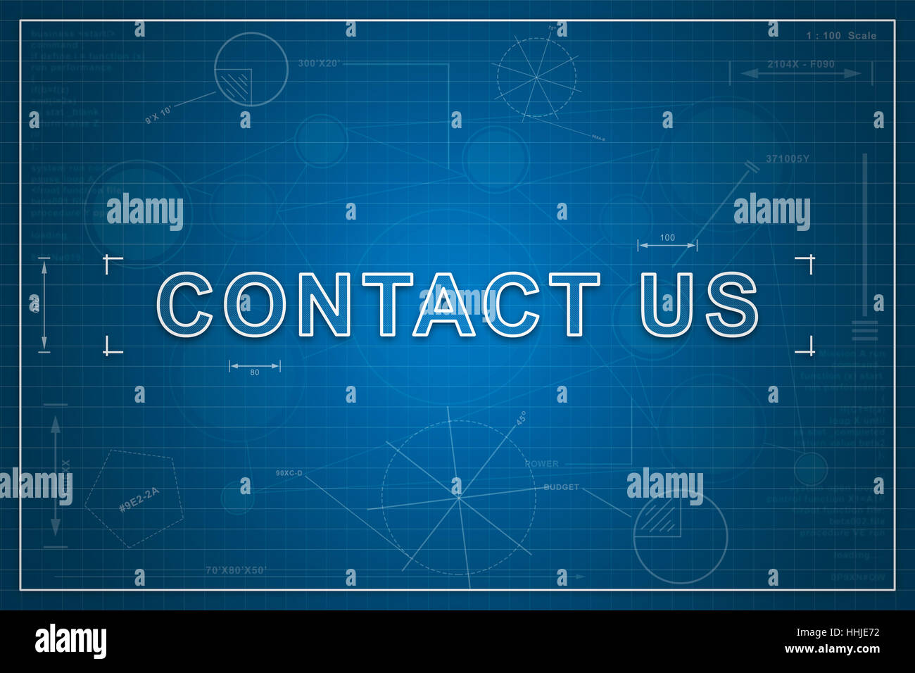 Contact us on paper blueprint background business concept stock contact us on paper blueprint background business concept malvernweather Gallery