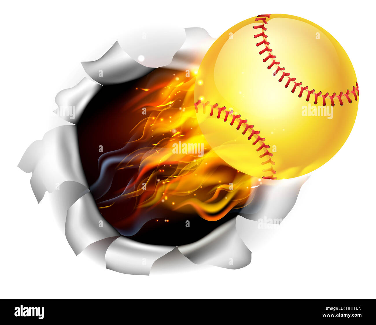 an illustration of a burning flaming yellow softball ball Softball Clip Art Softball Clip Art Black and White