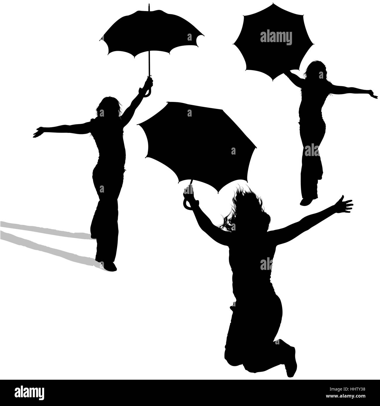 figure holding umbrella cut out stock images u0026 pictures alamy