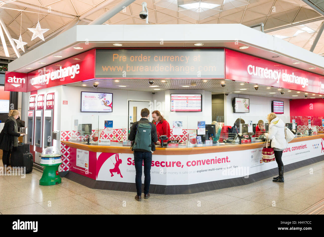 moneycorp currency exchange at stansted airport england uk