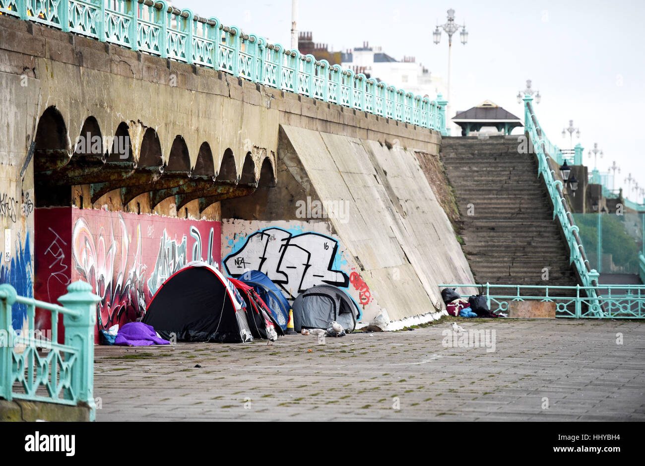 Homeless tents on Brighton seafront UK & Homeless tents on Brighton seafront UK Stock Photo Royalty Free ...