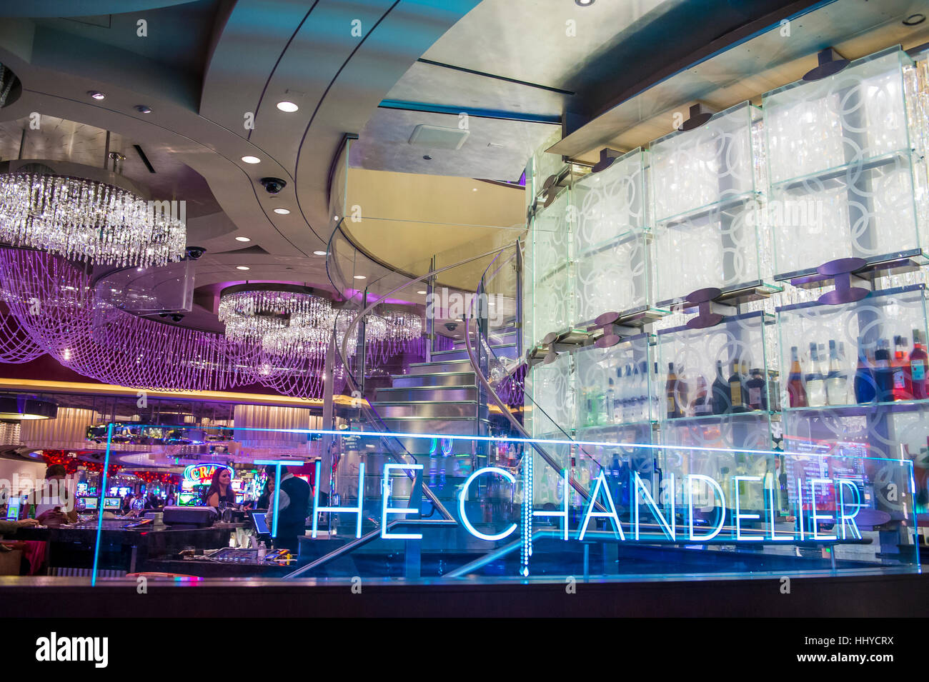 Las vegas oct 05 the chandelier bar at the cosmopolitan hotel las vegas oct 05 the chandelier bar at the cosmopolitan hotel casino in las vegas on october 05 2016 this tri level chandelier encases the hote arubaitofo Image collections