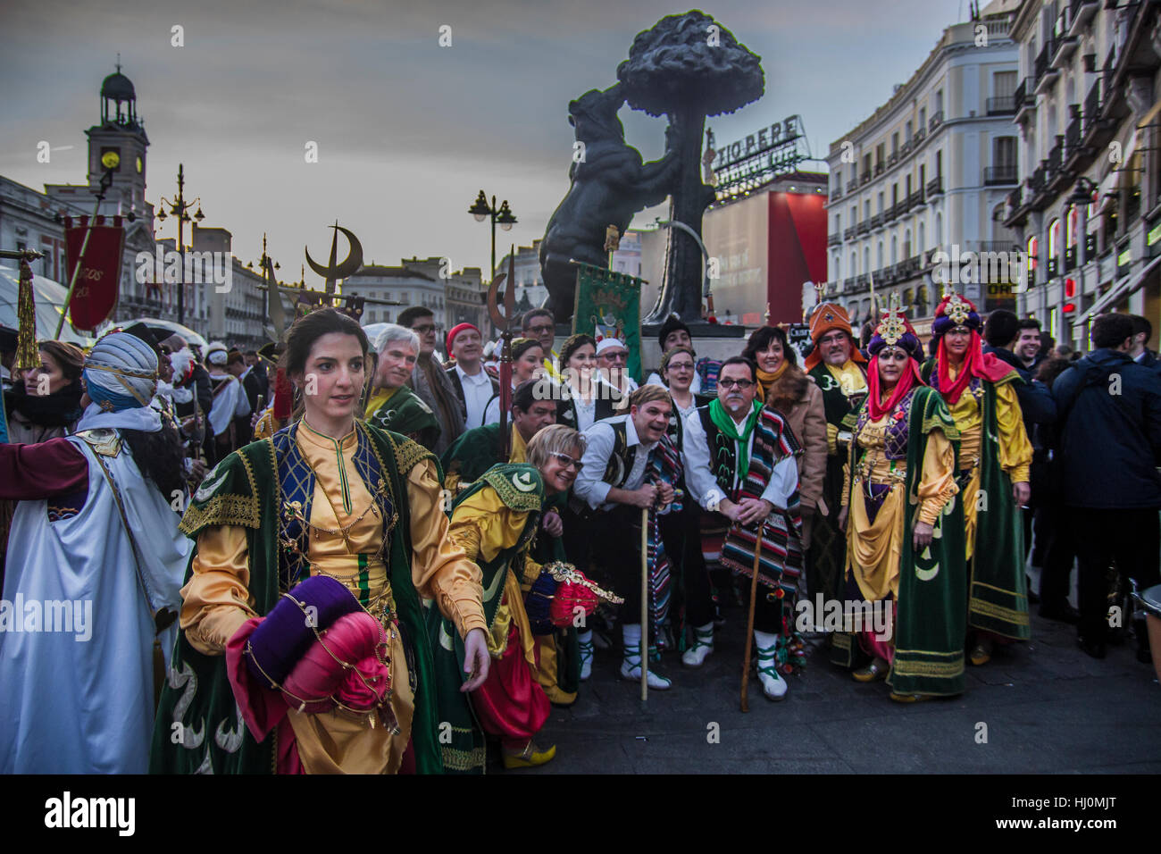 Madrid spain 21st january 2017 madrid parade in for Puerta del sol 2017
