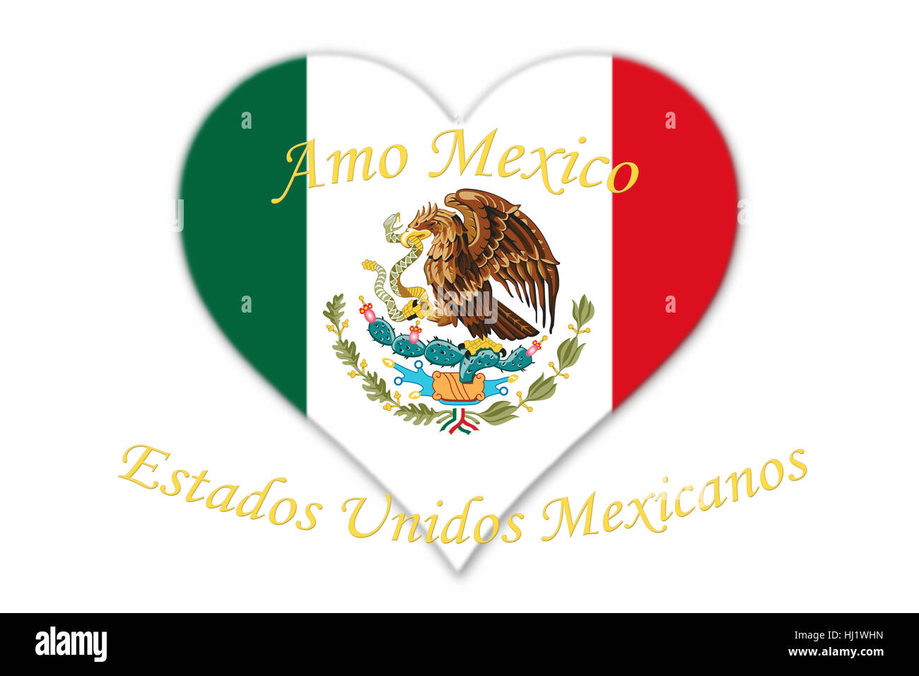 Mexican national flag with eagle coat of arms in shape of heart with mexican national flag with eagle coat of arms in shape of heart with text amo mexico and estados unidos mexicanos meaning love mexico and united mex biocorpaavc Choice Image