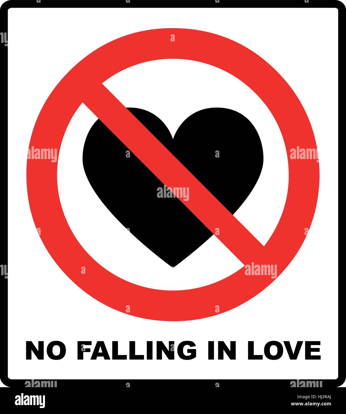 No love sign no falling in love label vector illustration stock no love sign no falling in love label vector illustration prohibited red circle with heart black silhouette buycottarizona