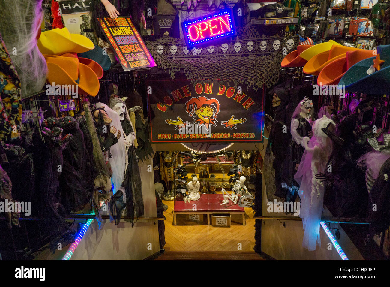 stock photo the interior of the costume shop halloween adventure ion greenwich village manhattan new york city - Halloween Adventure New York