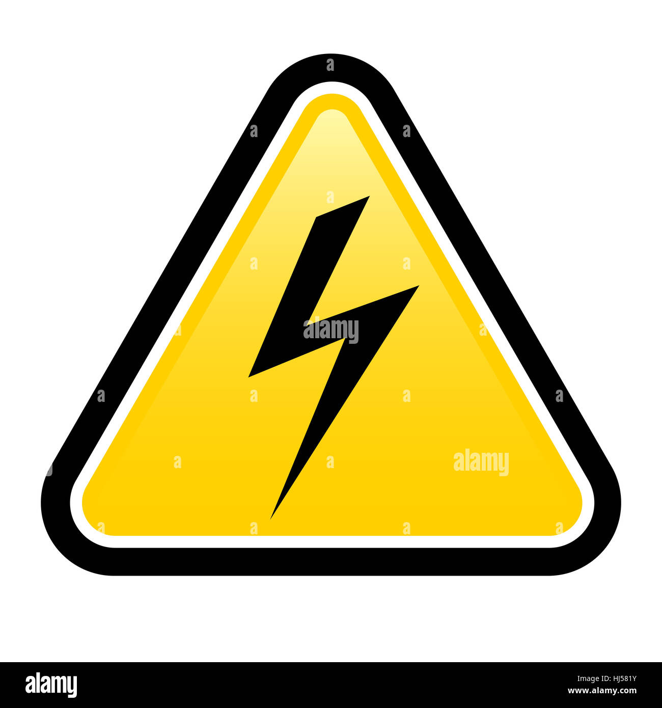 Triangle sign with high voltage symbol isolated on white stock triangle sign with high voltage symbol isolated on white buycottarizona