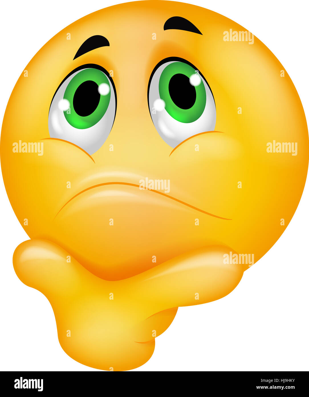 Funny smiley vector character thinking choice between good angel face serious icon cartoon thinking emotion pictogram symbol biocorpaavc