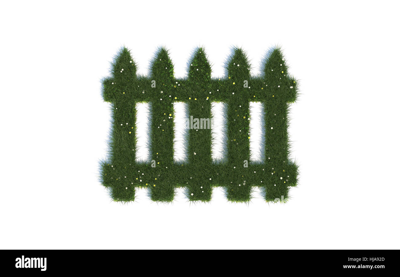Stock Photo   Garden, Graphic, Barrier, Fence, Fence In, Fencing, Gardens,  Separate