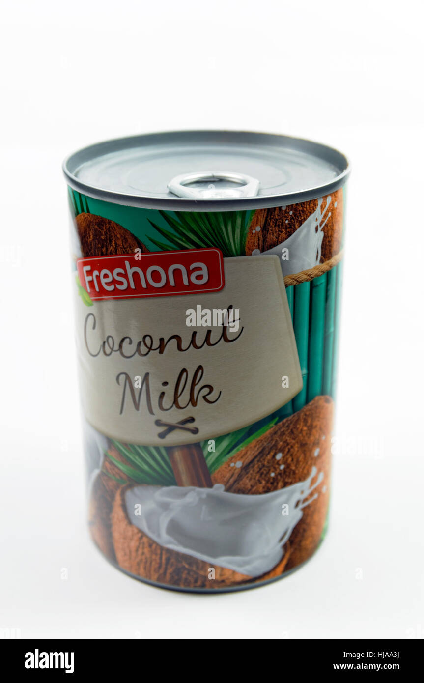 Tin of Coconut milk Stock Photo, Royalty Free Image: 131763846