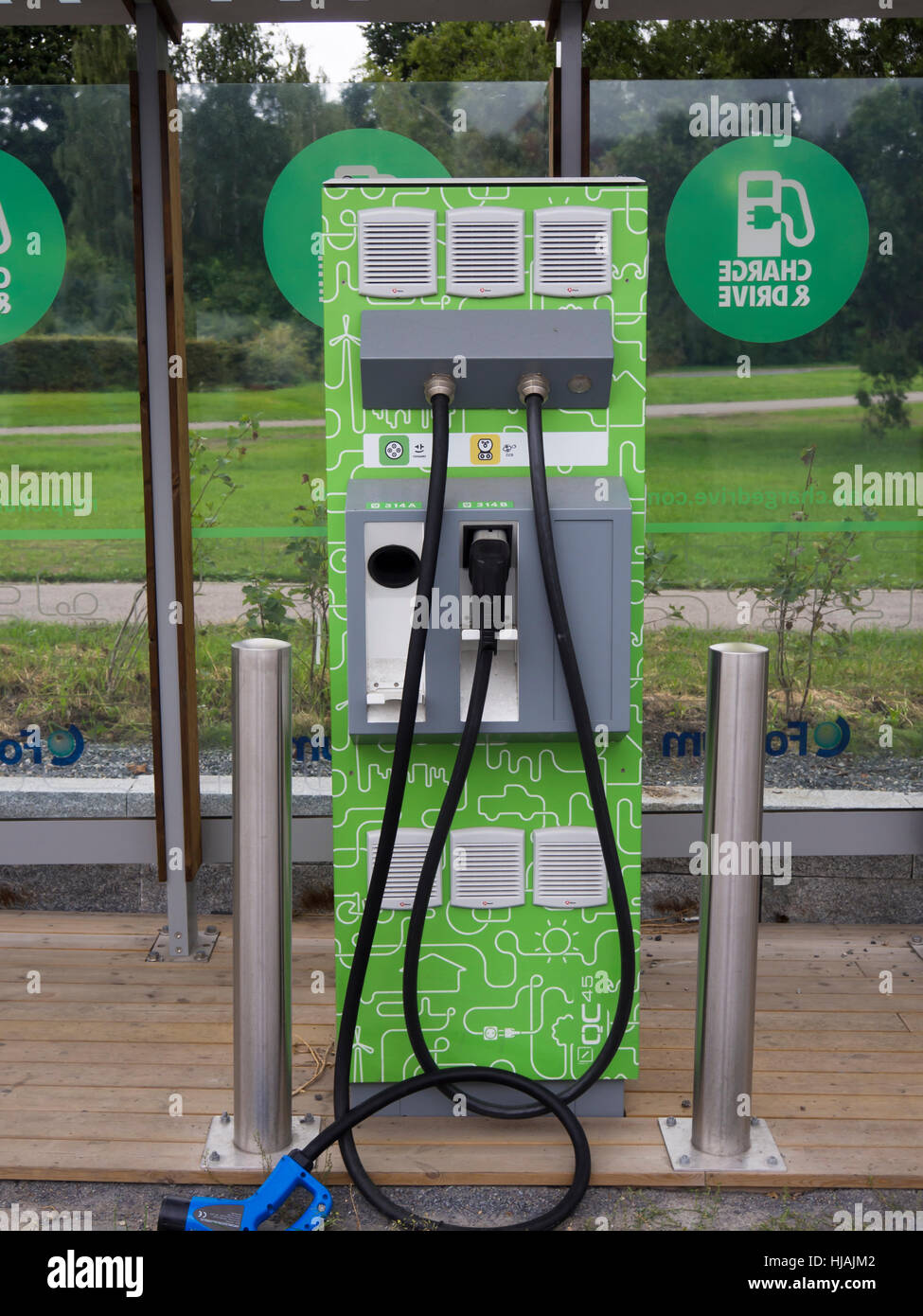 Charging Station For Electric Cars In Toyen Oslo Norway Imitating