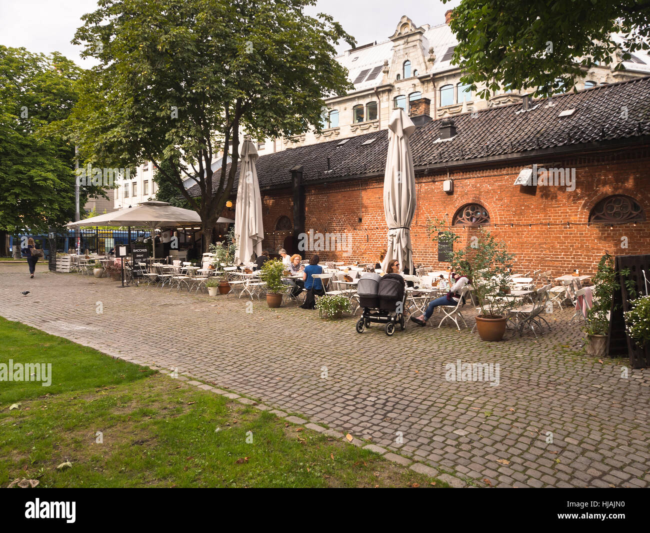 Kirkeristen behind the cathedral in the center of Oslo Norway, an ...