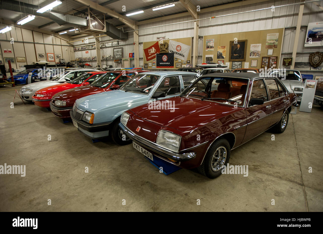 classic cars of the vauxhall heritage collection kept at the car stock photo royalty free image. Black Bedroom Furniture Sets. Home Design Ideas