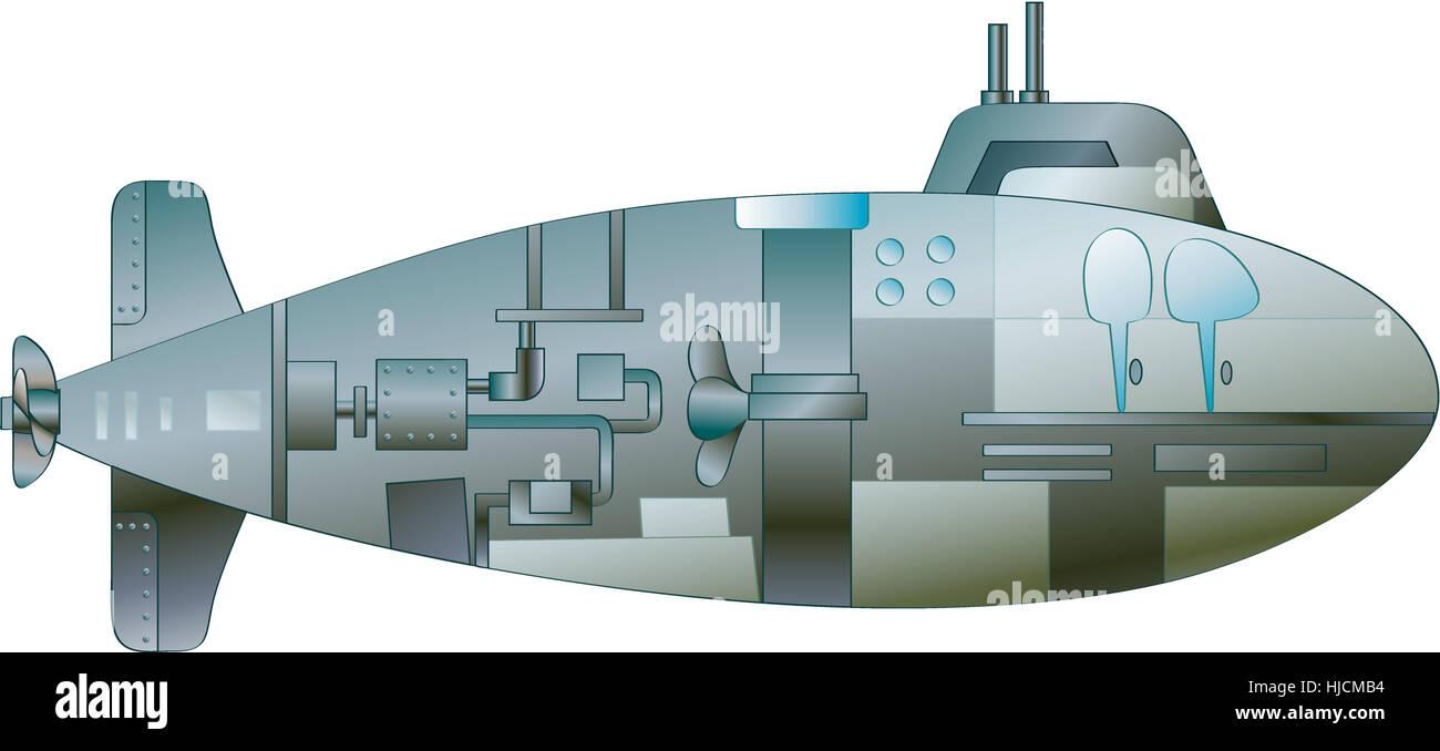 Illustration of a cartoon submarine stock photo royalty free illustration of a cartoon submarine pooptronica