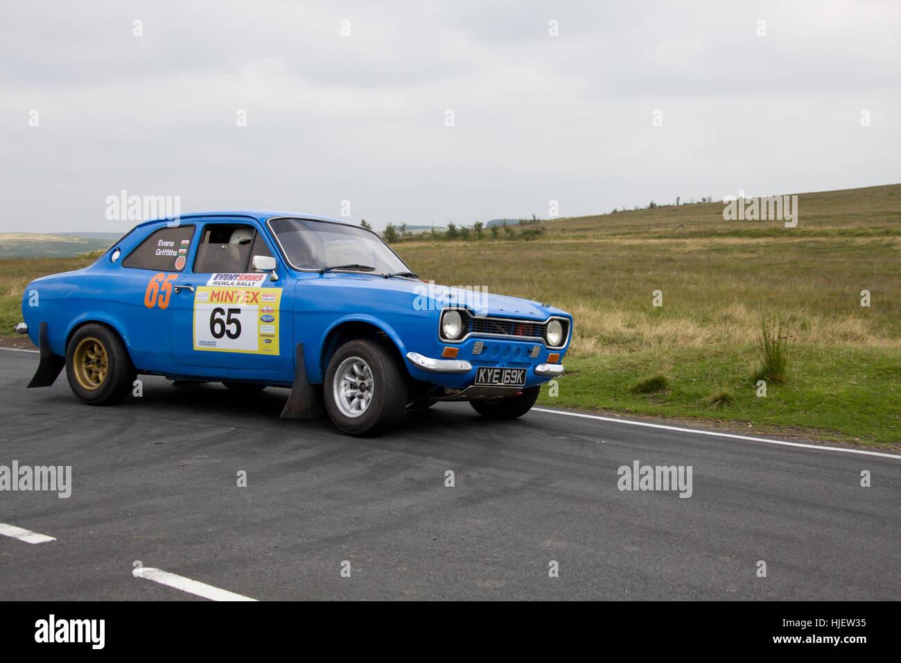 Mewla Historic Rally Event at Epynt Stock Photo: 131863401 - Alamy