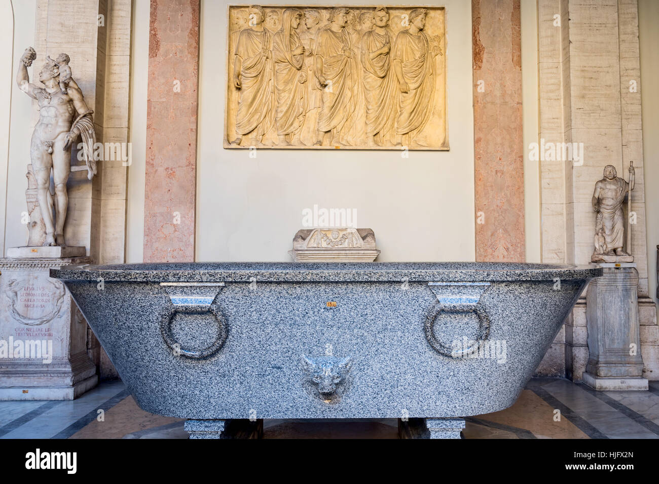 Antique Roman Bathtub, Vatican Museum, Vatican, Rome, Italy, Europe