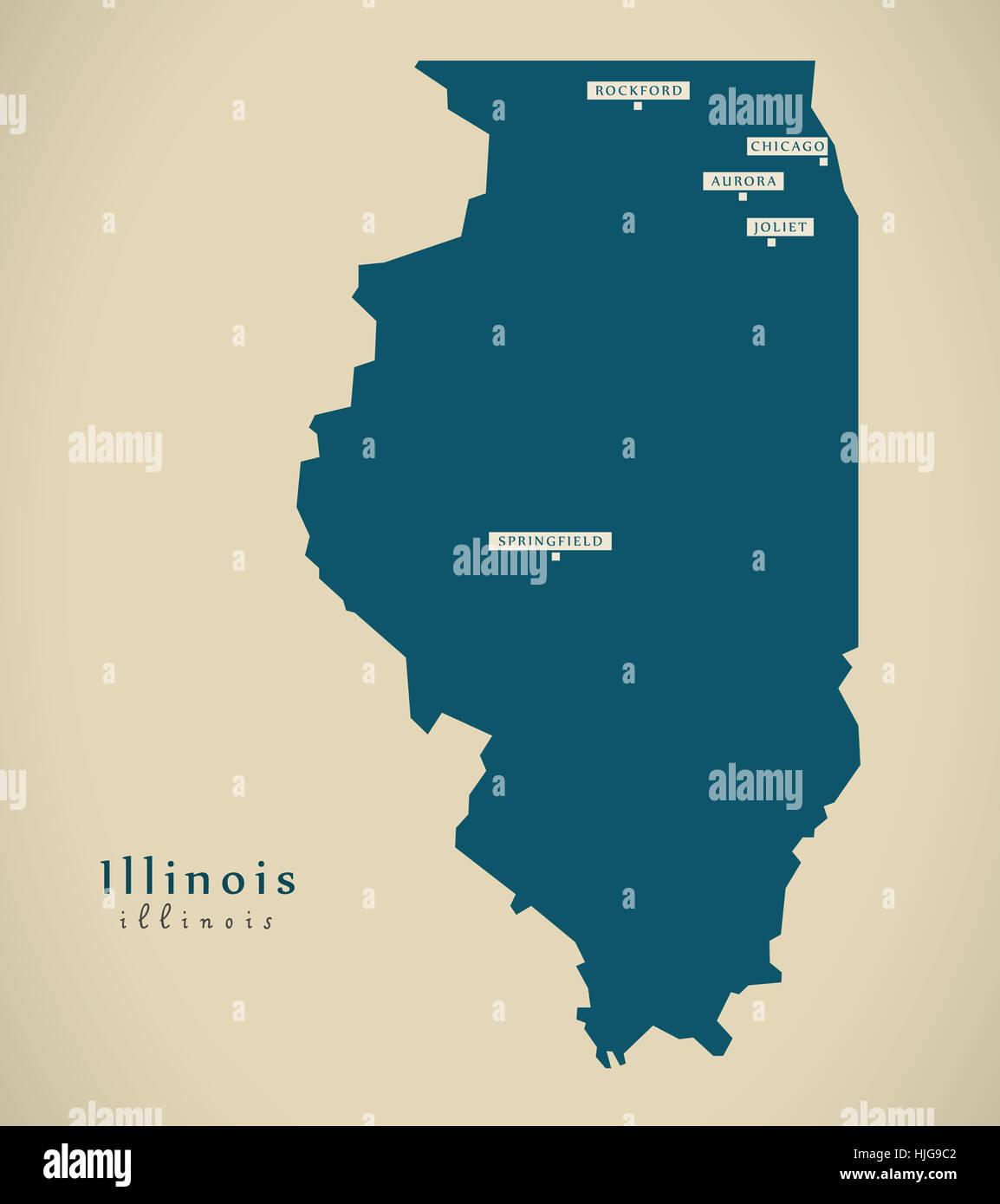 Illinois Location On The US Map Illinois Highway Map Illinois - Illinois in usa map