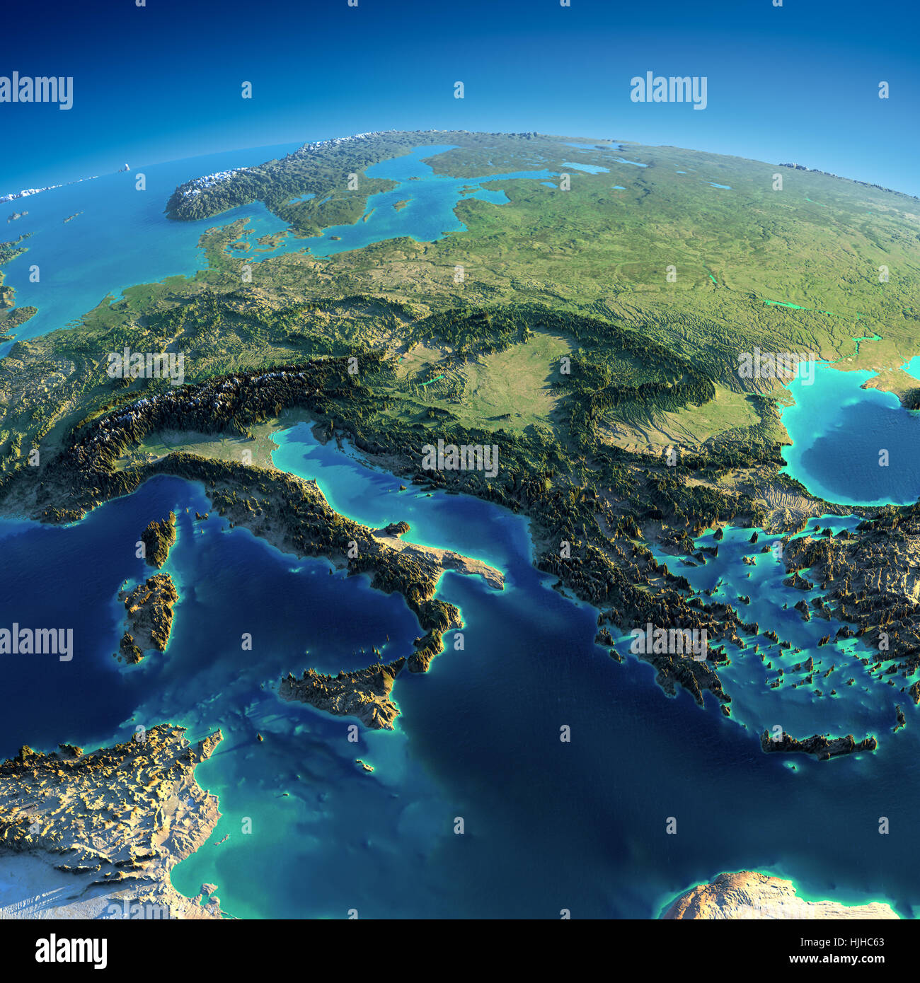 mountains relief globe planet earth world map atlas map of