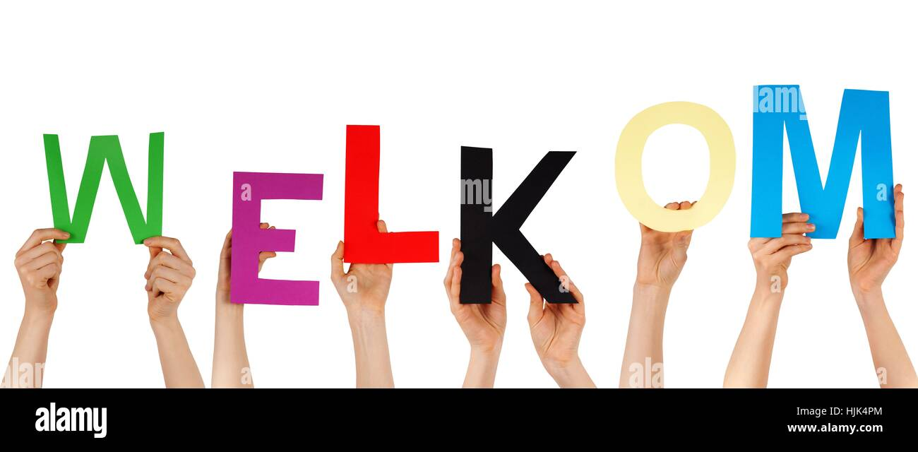 Hands hold the dutch word welkom which means welcome isolated hands hold the dutch word welkom which means welcome isolated buycottarizona Choice Image