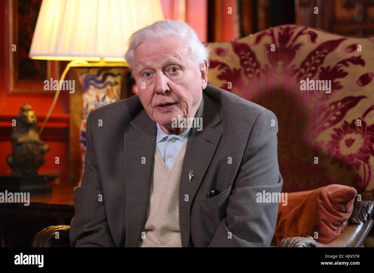 Sir David Attenborough Speaks To The Media At Prestonfield