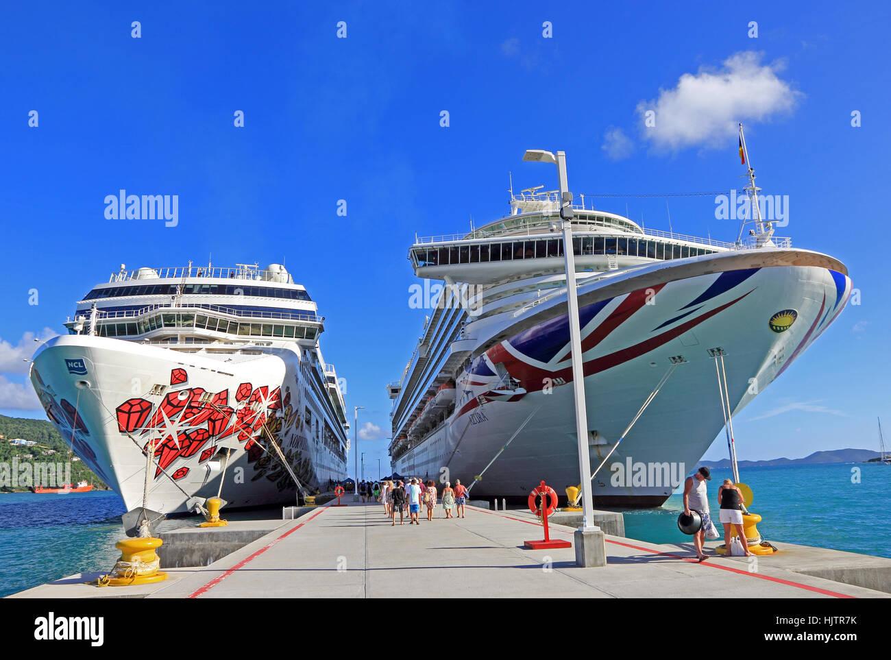 Cruise Ships Norwegian Gem And P O Azura Moored At Cruise Ship - Norwegian gem cruise ship