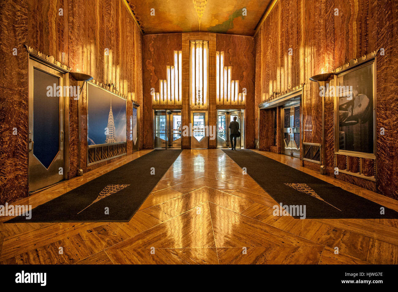 Lobby chrysler building art deco lexington avenue for Chrysler building lobby mural
