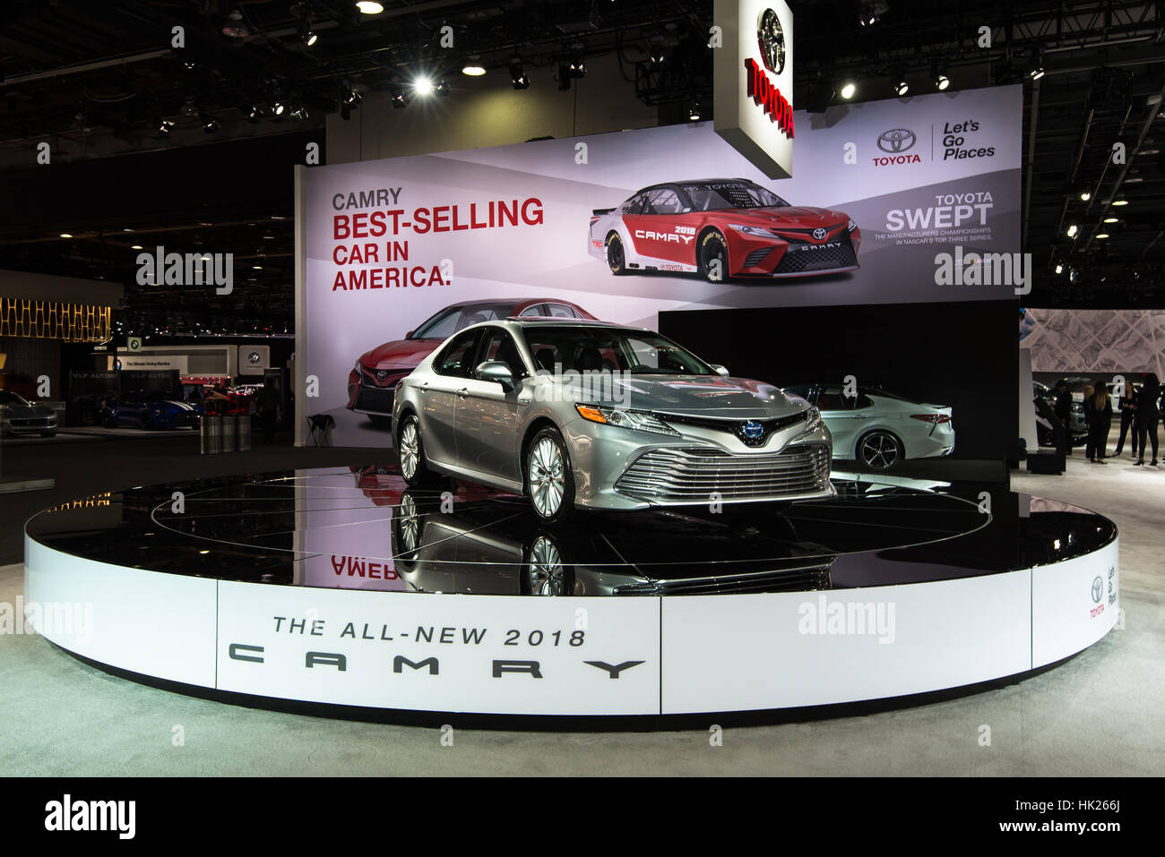 2018 toyota camry car at the north american international auto show naias