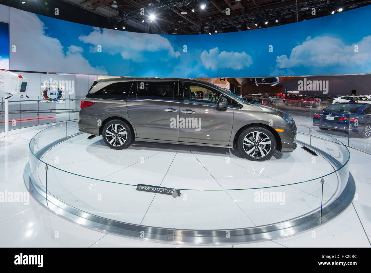 A 2018 honda odyssey minivan at the north american international auto show naias