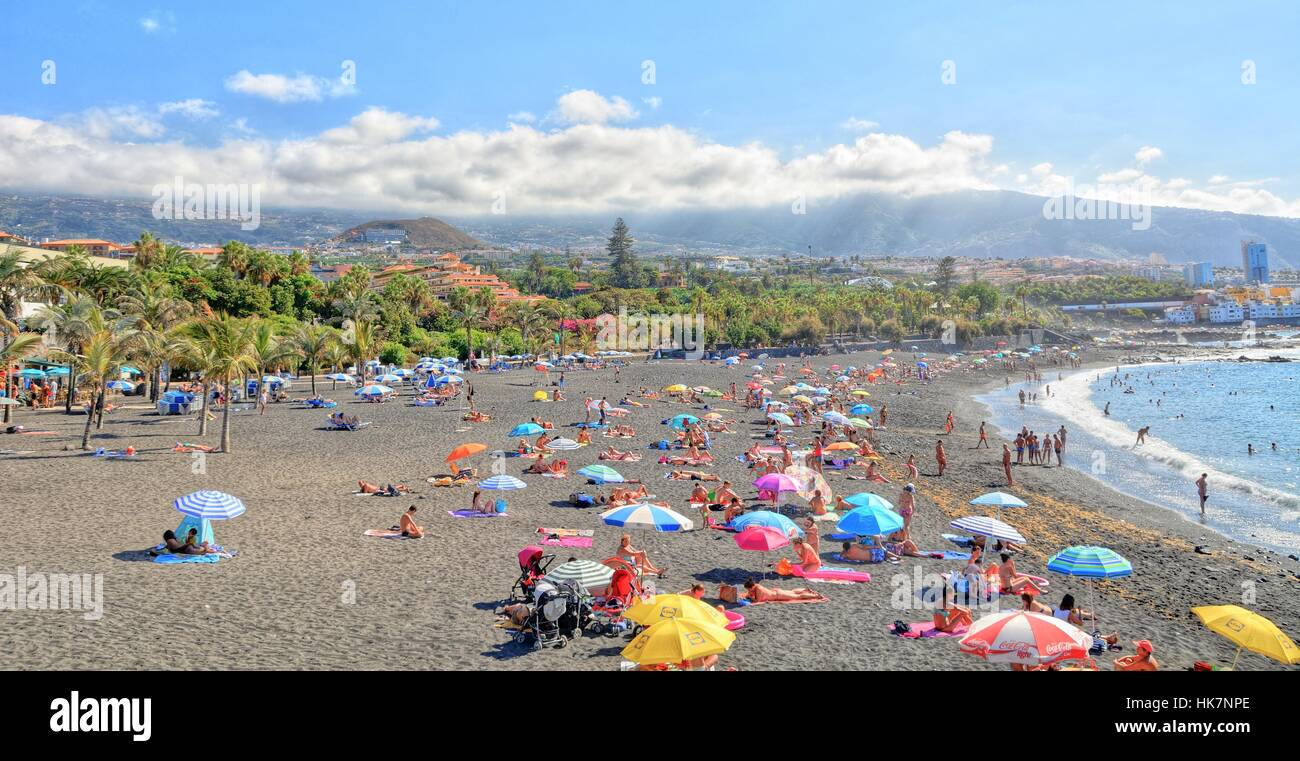 Playa jardin beach at puerto de la cruz on tenerife stock photo royalty free image 132321798 - Playa puerto de la cruz tenerife ...