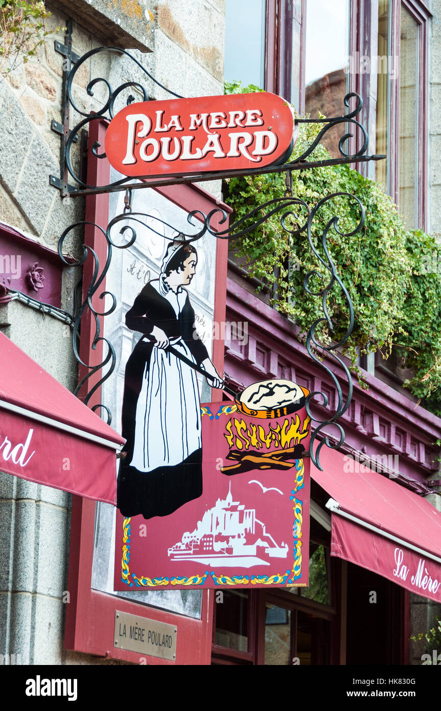 Restaurant la mere poulard in mont saint michel france stock photo 132329024 alamy - Restaurant la mere poulard ...