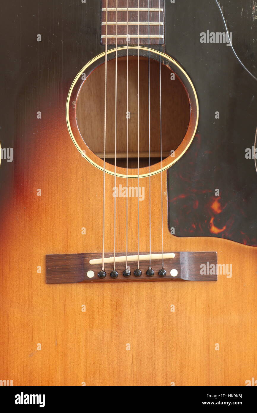 acoustic guitar with six strings and sound hole stock photo royalty free image 132363746 alamy. Black Bedroom Furniture Sets. Home Design Ideas
