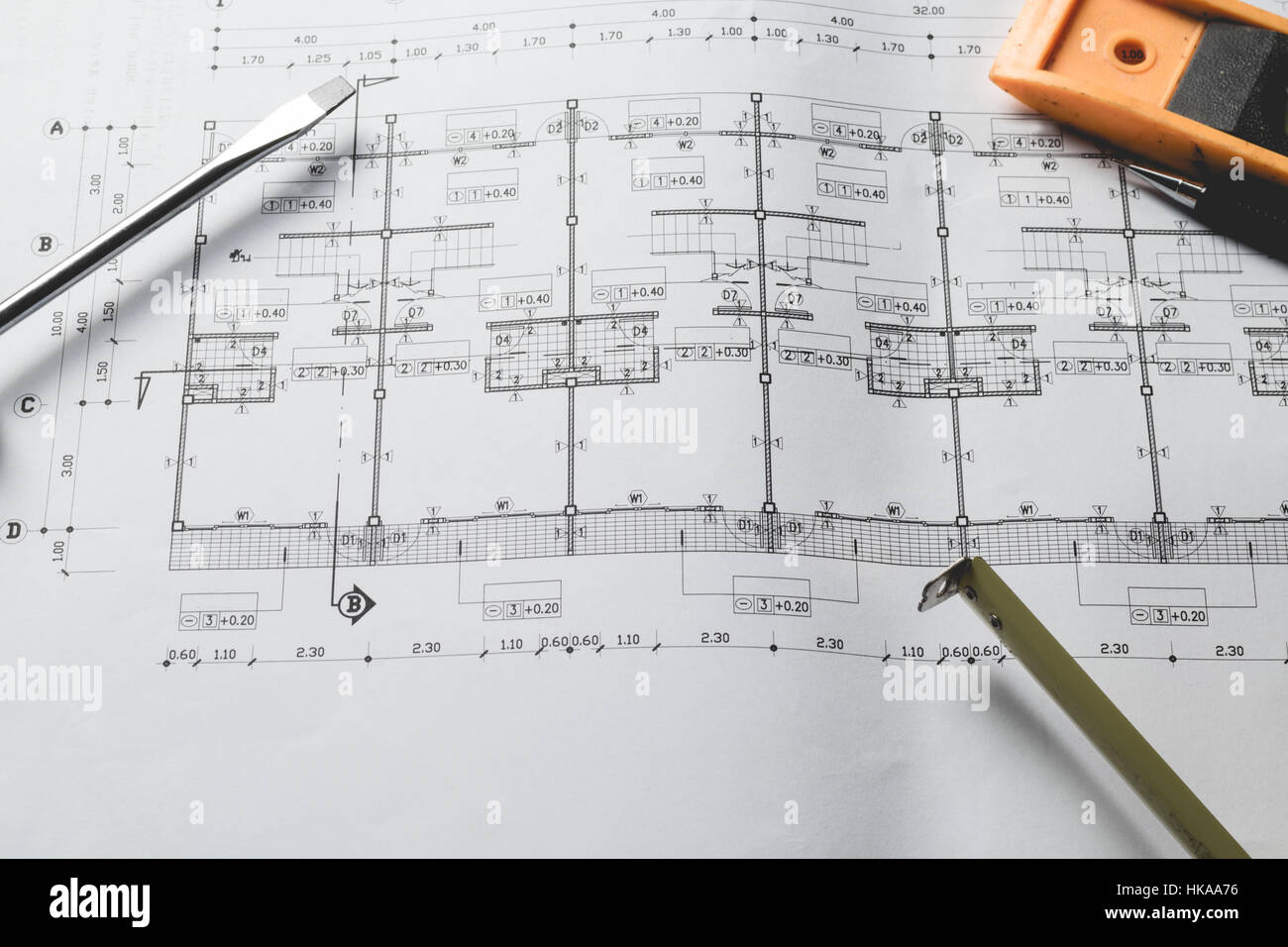 Engineering diagram blueprint paper drafting project sketch stock engineering diagram blueprint paper drafting project sketch architecturalselective focus malvernweather Image collections