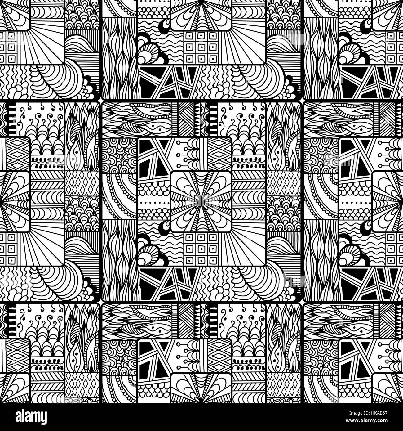 square zentangle seamless pattern vector illustration for art stock vector art illustration. Black Bedroom Furniture Sets. Home Design Ideas