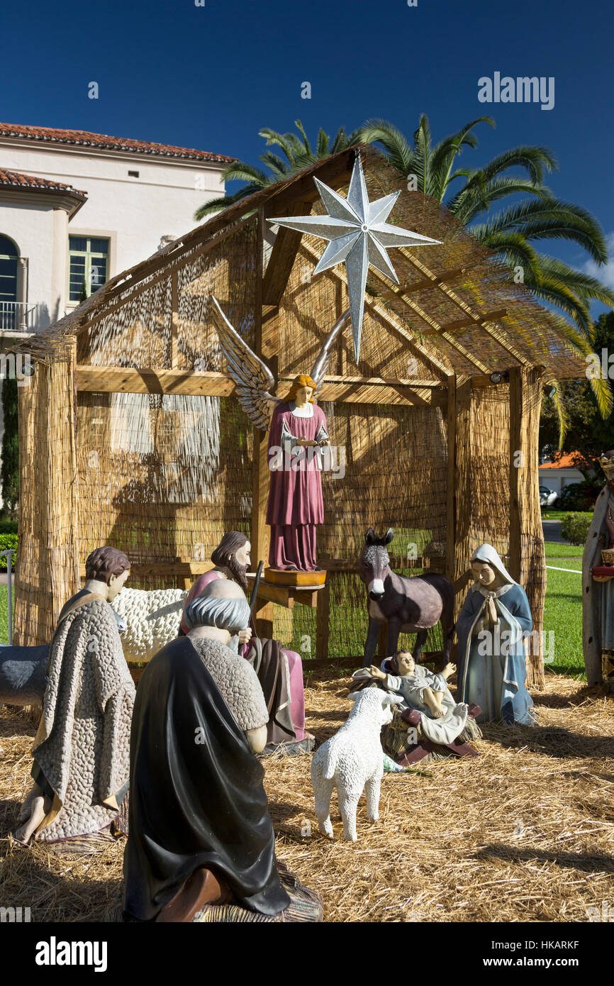OUTDOOR LIFE SIZE CHRISTMAS NATIVITY SCENE CHURCH OF THE LITTLE ...